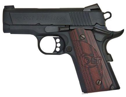 Colt 1911 Defender 45 ACP 7+1 Semi Auto Hammer Fired Pistol, Blue - O7800XE