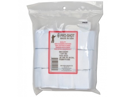 PRO-SHOT 7mm-.38CAL./6mm Benchrest Patches 500CT  13/4-500