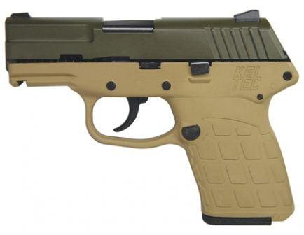 Kel-Tec Pistol PF9 9mm Green Cerakote and Tan