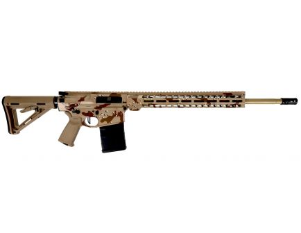 "PSA Custom.308 WIN 20"" Coated SS 15"" MLOK PA10 Rifle w/ 3.5lb Flat FCG - Desert Camo"