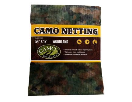 "Camo Unlimited Ground/Tree Netting, 12' L x 54"" W, Woodland - 9520"