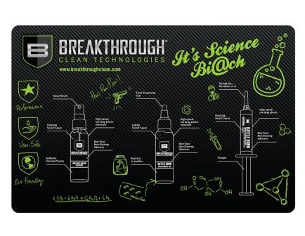 """Breakthrough Clean Technologies Polyester Top, Neoprene Rubber Backing Cleaning Mat, 11"""" x 17"""" - BT-RGM-P"""