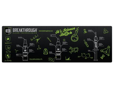 """Breakthrough Clean Technologies Polyester Top, Neoprene Rubber Backing Cleaning Mat, 12"""" x 36"""" - BT-RGM-R"""