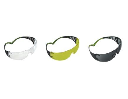 3M Peltor Sport SecureFit 400 Wraparound Anti-Fog Safety Eyewear, Clear/Amber/Gray Lens - SF4003PK6