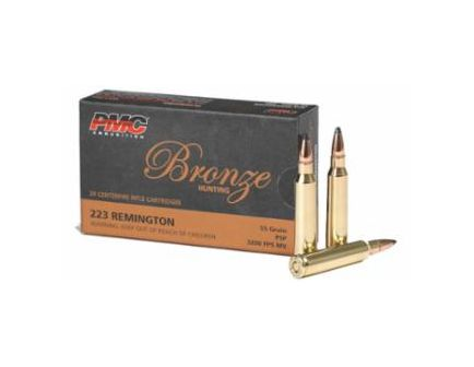 PMC Bronze 223 Remington 55gr SP Ammunition 20rds - 223SP