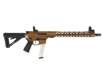 "PSA Custom PX-9 9MM 16"" Nitride 15"" MLOK PCC Rifle w/ 3.5 lb Flat FCG - Coyote"