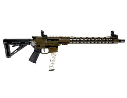"PSA Custom PX-9 9mm 16"" Nitride 15"" MLOK PCC Rifle w/ 3.5 lb Flat FCG - ODG"