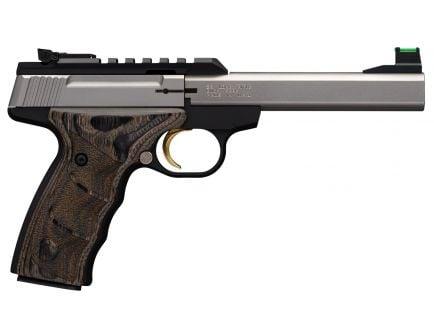 Browning Buck Mark Plus UDX 22 LR 10 Round Pistol, Stainless Steel - 051531490