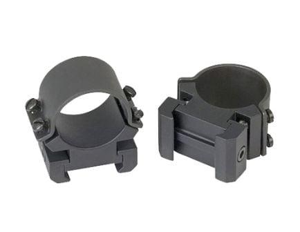 "Weaver Sure Grip Windage 1"" High Steel Strap Aluminum Saddle Non-Detachable Adjustable Scope Ring, Matte Black - 49144"