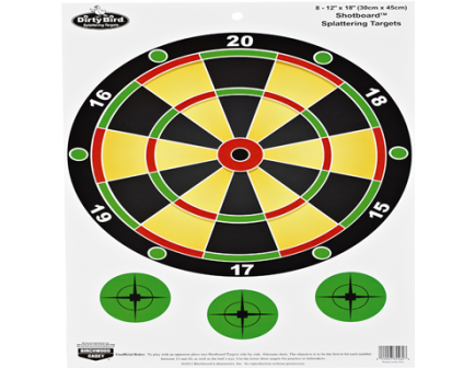 "Birchwood Casey Dirty Bird 12""x18"" Shot Board 8 Pack 35562"