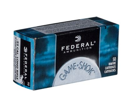 Federal 22 Long Rifle 38 Grain Copper Plated HP Game-Shok 50 Per Box - 712
