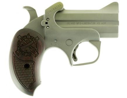 Inland Liberator 45 ACP 2 Round Semi Auto Break Open Pistol, Stainless - ILMDER45