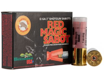 "Brenneke USA Red Magic 12 Gauge 3"" Shotgun Sabot Slug, 5/box - SL-123RMS"