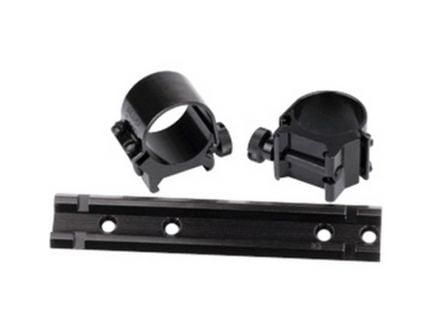 "Weaver See-Thru Marlin 336 1"" Steel Strap Quick Detachable 2-Piece Lock Mount, Black - 49713"
