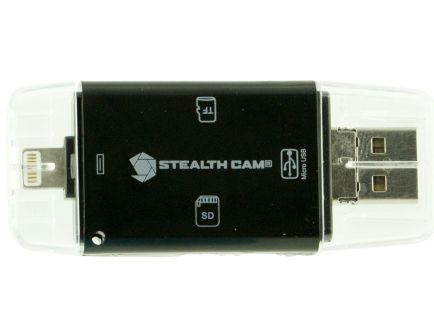 Stealth Cam Tri Card Reader for Android, IOS and USB Devices - STC-DDMCR