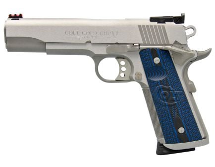 Colt 1911 Gold Cup Trophy 9mm 9+1 Round Semi Auto Hammer Fired Pistol, Brushed Stainless - O5072XE