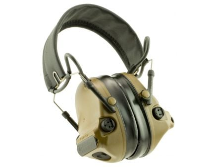 3M Peltor Comtac III Hearing Defender 23 dB Tactical Over the Head Folding Earmuff, Coyote Brown - H682FB09CY
