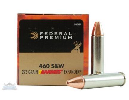 Federal 460 S&W Magnum  275gr Barnes Expander Ammunition 20rds - P460XB1