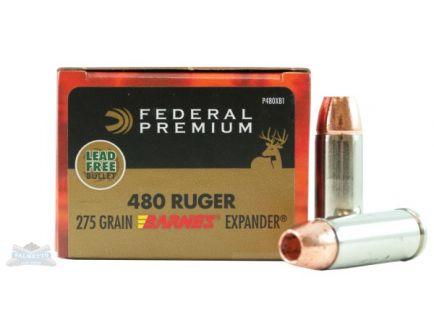 Federal 480 Ruger 275gr Barnes Expander Ammunition 20rds - P480XB1
