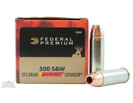 Federal 500 S&W Magnum 275gr Barnes Expander Ammunition 20rds - P500XB1
