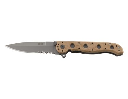 CRKT M16-13 Spear Point Knife with Triple Point™ Serrations, Desert Camo