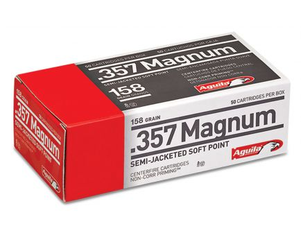 Aguila Centerfire 357 Mag 158 grain Semi-Jacketed Hollow Point Pistol Ammo