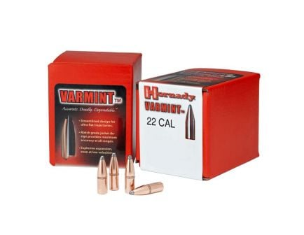 Hornady 22 Cal (.224) 55gr SP Bullets with Cannelure,  100 Count -2266