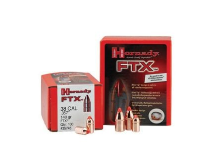 Hornady 38 Cal (.357) FTX Bullets - 140gr - 100ct - 35745