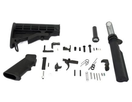 Premium Classic AR-15 Lower Build Kit in black