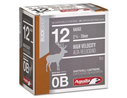 Aguila Field 12 Gauge 2-3/4 inches 0 Buck Shot 1 oz Lead Shotshell, Buckshot, 25/Box - 1C1200BA