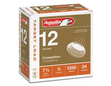 Aguila Competition 12 Gauge 2-3/4 inches 7-1/2 Shot 7/8 oz International Lead Shotshell, Birdshot, 25/Box - 1CHB1250