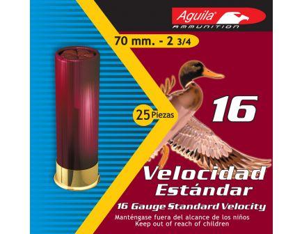 Aguila Sub-Gauge 16 Gauge 2-3/4 inches 8 Shot 1 oz Lead Shotshell, Birdshot, 25/Box - 1CHB1618