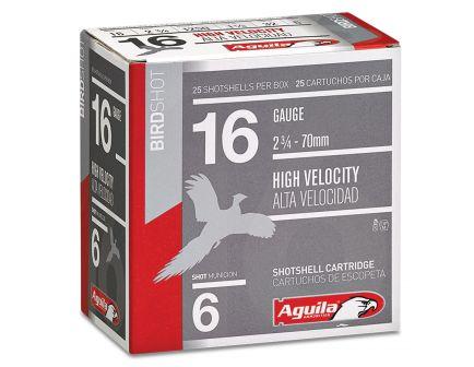 Aguila Sub-Gauge 16 Gauge 2-3/4 inches 6 Shot 1-1/8 oz Lead Shotshell, Birdshot, 25/Box - 1CHB1606