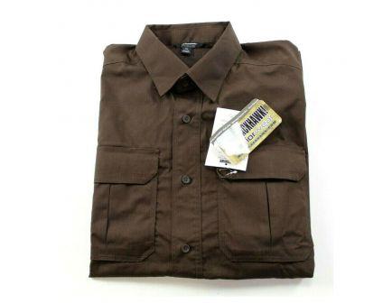 Blackhaw! Light Weight Tactical S/S Shirt - Chocolate Brown - XL - 88TS02CB