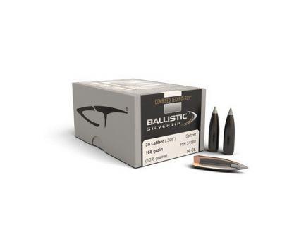 Nosler 30 Caliber (.308) 168 gr Combined Technology Ballistic Silvertip BT Bullets 50ct - 51160