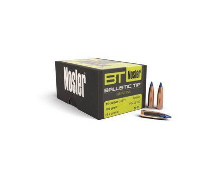 Nosler 25 Caliber (.257) 100gr Spitzer Ballistic Tip Bullets 50ct - 25100