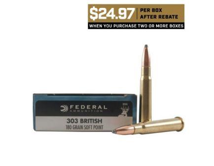 Federal 303 British 180gr SP Power-Shok Ammuniiton 20rds - 303AS