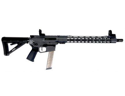 "PSA Custom PX-9 9MM Rifle 16"" Nitride 15"" Rail PCC Rifle w/ 3.5 lb Trigger & Ambi Safety - Gray"