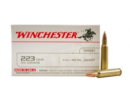 WINCHESTER USA 223 55GR FMJ AMMUNITION 20RDS