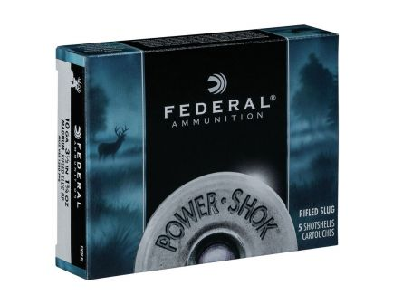"Federal 10ga 3.5"" Magnum 1.75oz HP Power-Shok Rifled Slug Shotshell Ammunition 5rds - F103F RS"