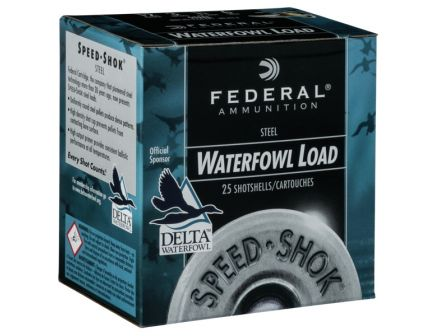 "Federal 16ga 2.75"" 15/16oz #4 Speed-Shok High Velocity Steel Shotshells"