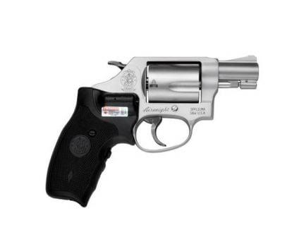 Smith & Wesson Model 637 Crimson Trace Lasergrip Small .38 S&W Spl +P Revolver, Matte Silver - 163052