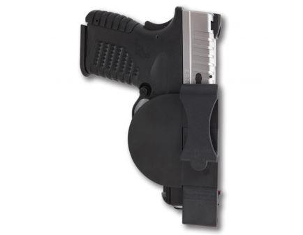 Versacarry Zerobulk Small Ambidextrous Hand 9mm Inside the Waistband Holster, Smooth Black/Yellow - 9SM