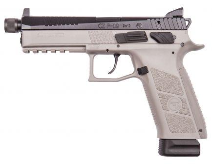 CZ P-09 Urban Grey Suppressor Ready 9mm Pistol, Urban Gray - 91269
