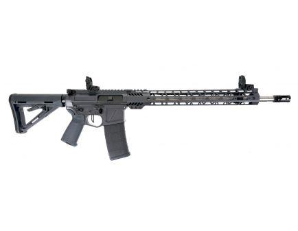 """PSA Custom Billet .223 Wylde 18"""" SS 15"""" MLOK MOE Rifle w/ 3.5lb Flat FCG - Gray"""