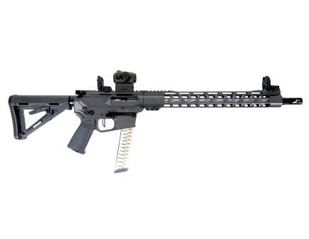 "PSA Custom PX-9 9MM 16"" Nitride 15"" MLOK PCC Rifle w/ 3.5lb Flat FCG, Romeo5 - Gray"