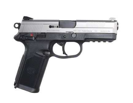 "FN Herstal FNX-45 .45 ACP 4.5"" Barrel with Polymer Grip 15rd Magazine Silver/Black Matte 66962"