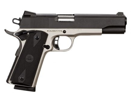 Rock Island Rock Standard FS Two Tone 45 ACP 8 Round Pistol, Nickel - 51447