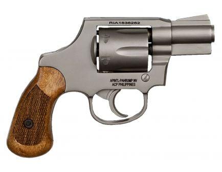 Rock Island M206 Spurless 38 Special Full Shroud 6 Round Revolver, Matte Nickel - 51289