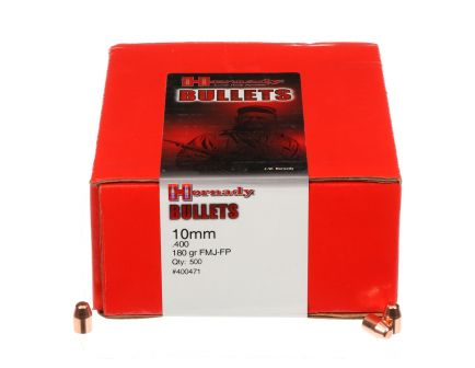 Hornady 10MM (.400) FMJ-FP Bullets - 180gr - 500ct - 400471